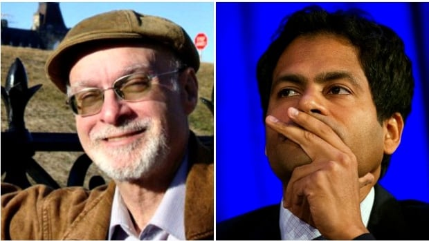 Tonight, Ken Rubin (L) will receive the Canadian Journalists for Free Expressions' inaugural investigative award and Jameel Jaffer will receive the CJFE's Vox Libera Award.