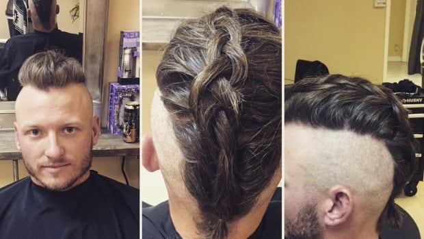 Donaldson debuted his new hairstyle on Twitter Tuesday night.