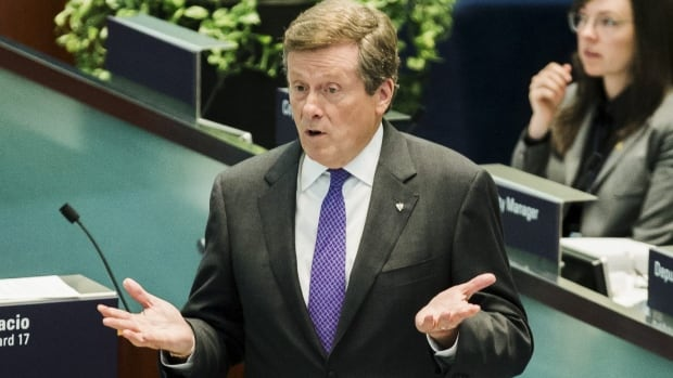 Mayor John Tory speaks during a city council debate last September. REUTERS/Mark Blinch