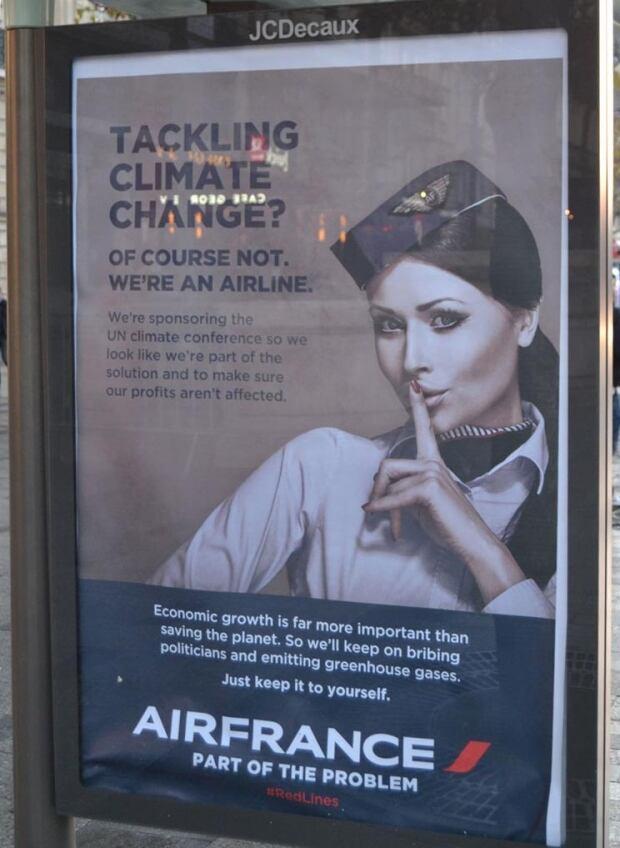 Brandalism Air France ad