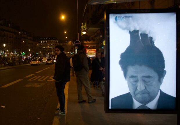 Brandalism Shinzo Abe
