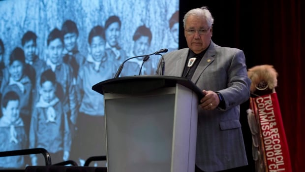 Commission chairman Justice Murray Sinclair speaks at the Truth and Reconciliation Commission in Ottawa on Tuesday, June 2, 2015.