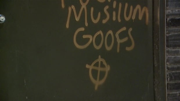 This is an example of anti-Muslim graffiti left at the Tuscany LRT Station in Calgary on Dec. 3, 2015.  Dr. Ameer Farooq writes that this incident and others like it across Canada have affected the way he and his wife live their everyday lives.