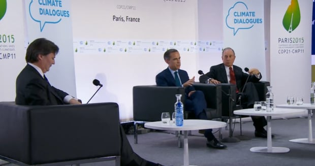 Mark Carney and Michael Bloomberg