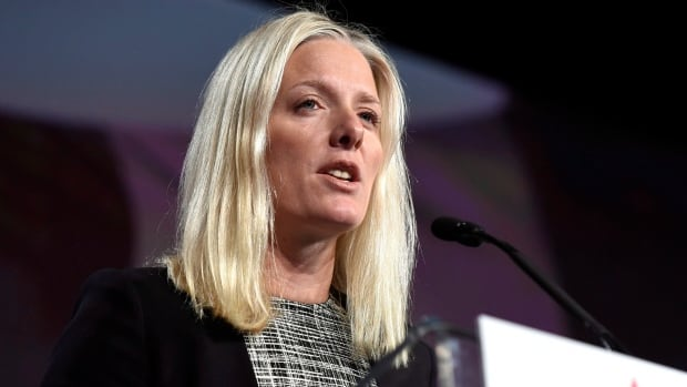 Minister of Environment and Climate Change Catherine McKenna delivers the keynote address at the Canada 2020 conference in Ottawa in November. She has decided to spend two and a half hours, six days a week, unreachable by phone in order to spend quality time with her family.