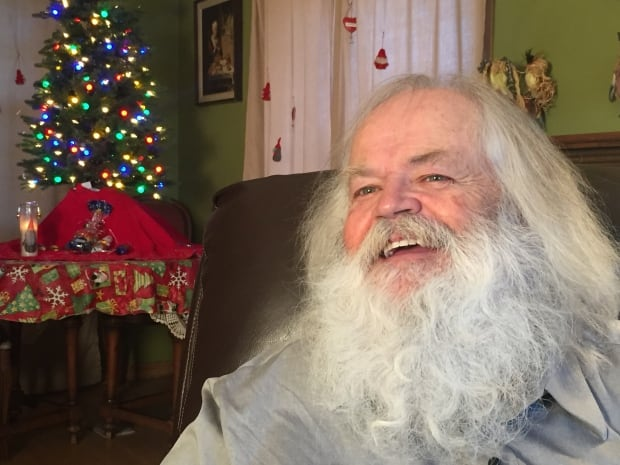 Today, Doug Craig is a professional Santa Claus in Calgary but three decades ago he was a member of the biker gang King's Crew. (Evelyne Asselin/CBC)