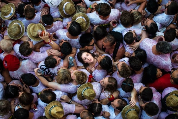 POTY Pamplona Spain July 6 2015 crushed running of the bulls