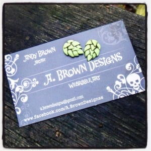 Hop studs by A. Brown Designs