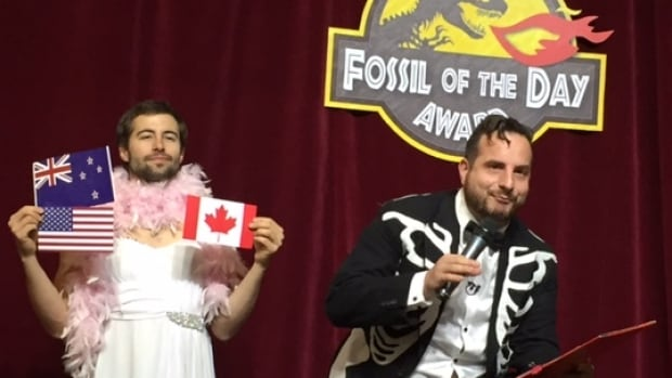 Canada has won a Fossil of the Day Award along with the U.S. at the Paris climate summit over the issue of compensation for vulnerable countries. The awards are given by the Climate Action Network, which represents nearly 1,000 environmental groups around the world.