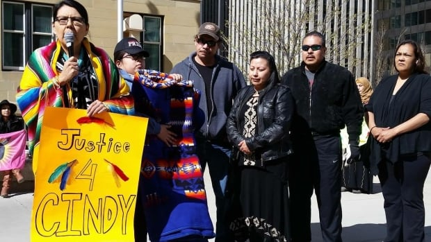 """As an indigenous woman, 42-year-old Lowa Beebe, says she feels """"at risk"""" all the time."""