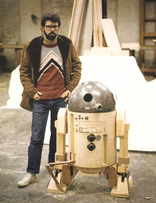 R2-D2 and George Lucas