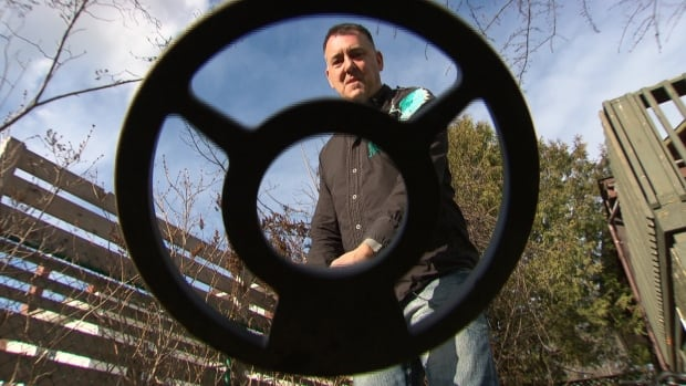 Peter Quevillon used this metal detector to uncover his father's lost wedding ring from the garden behind his family's Westboro home — a ring that went missing nearly 40 years ago.