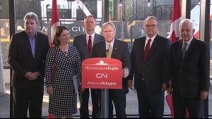 Luc Jobin, CN Rail, syrian refugee announcement Dec. 11, 2015