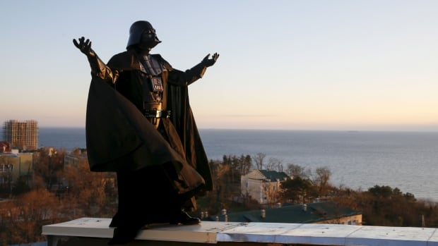 Darth Mykolaiovych Vader, dressed as the famous Star Wars villain, lives with his wife and children in a quiet apartment block in Odessa, on Ukraine's Black Sea coast.