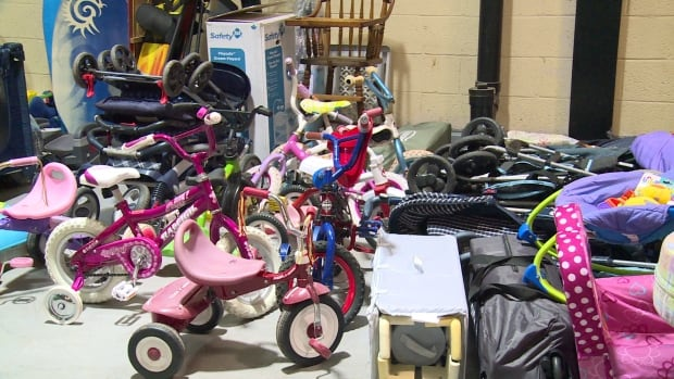 The donation centre was inundated with donations in December, but now some stock is running low.