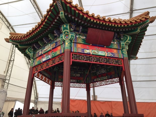 The zhongshan ting was opened Saturday afternoon in Victoria Park.