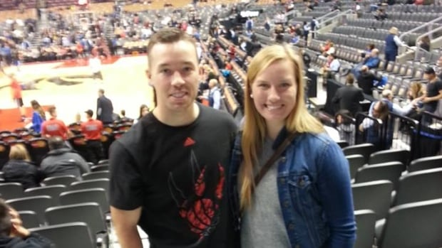 Grace Glofcheskie (right) is seen here with her brother Luke in an undated photo on Facebook. She was killed early Sunday after a driver fled a police spot check in downtown Guelph in a stolen vehicle.