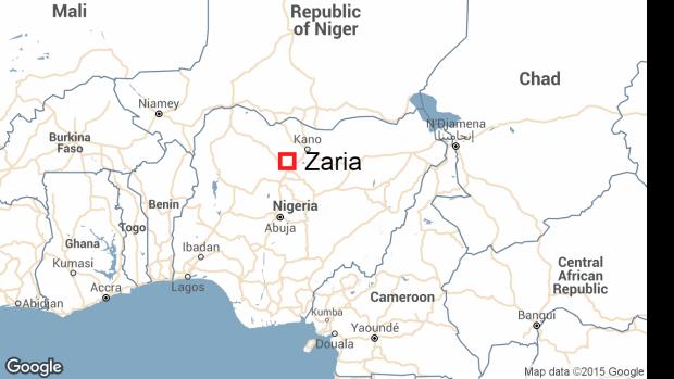zaria-nigeria-map