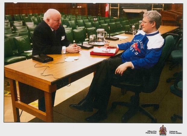 Mike Duffy Stephen Harper photo - exhibit104