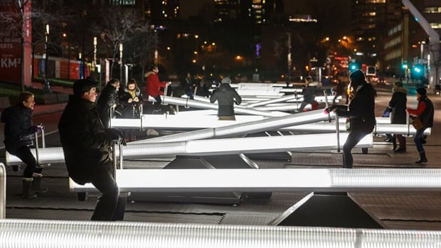 Impulse is created by Montreal architect Conor Sampson and the Toronto firm, Lateral Office. It's at Place des Festivals until the end of January 2016.