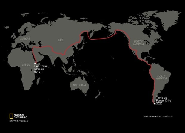 Salopek 5 - Map