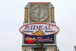 Rideau Carleton Raceway sign slots Ottawa Dec 16 2015