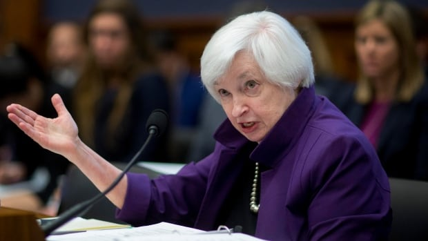 Janet Yellen, chair of the U.S. Federal Reserve, says it is now appropriate to start moving interest rates up from their current record lows.