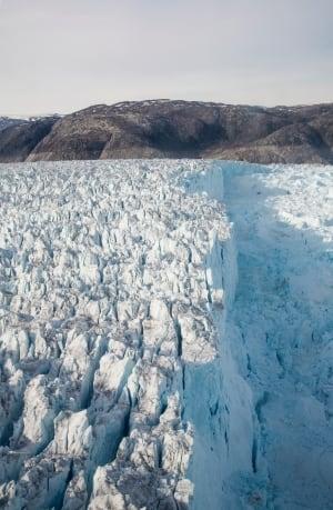 Helheim Glacier in Southeast Greenland