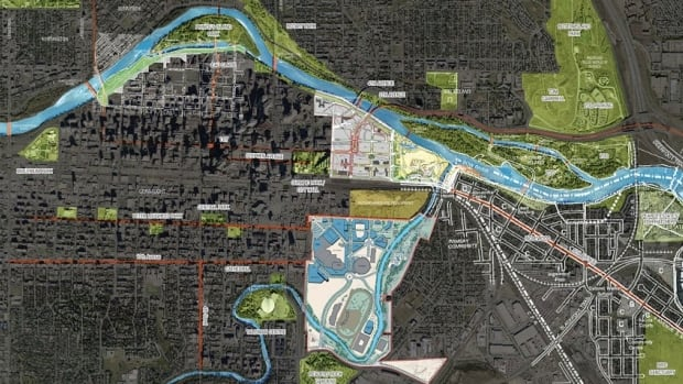 This map indicates several of the Calgary locations Ken Greenberg mentions in the following Q&A.