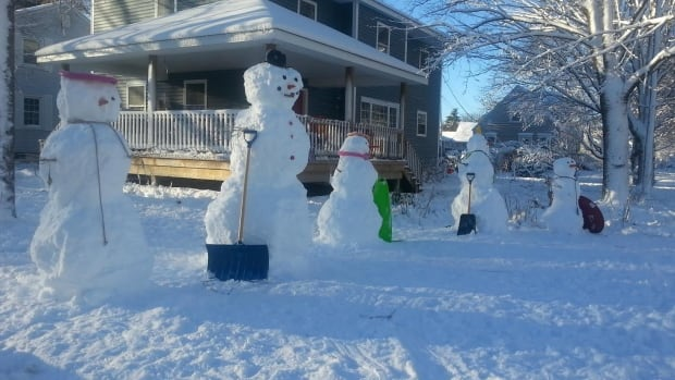 This snow family didn't last very long in Fredericton, which set a record for the warmest December, eclipsing the 1996 record.