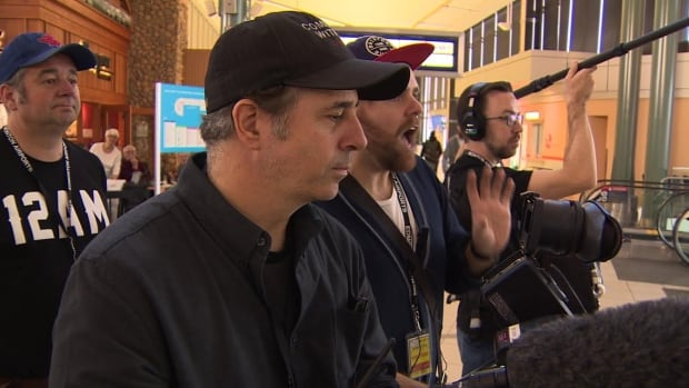 A production crew will be on site at the airport for the next three months.