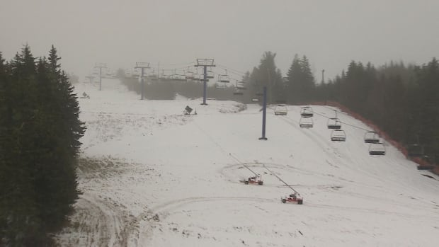 Despite the mild weather, Brookvale Provincial Ski Park has been open more times this year than last year.