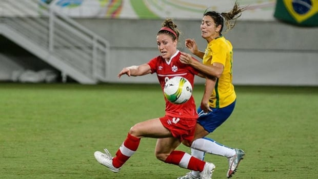 Canada's women suffered their second loss to Brazil this week at an international soccer competition on Sunday.