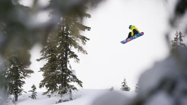 Professional snowboarder Robin Van Gyn in action.