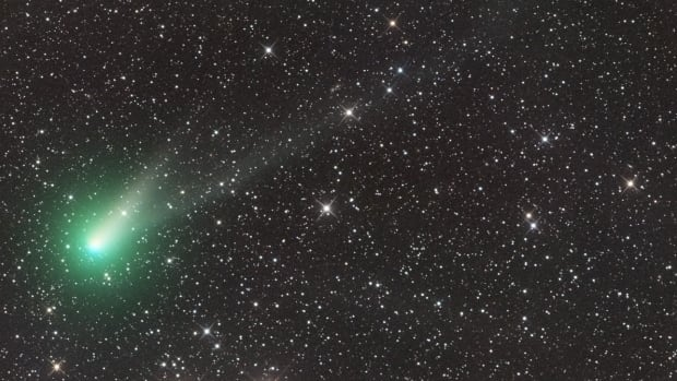 English amateur astronomer and software programmer Ian Sharp captured this image using a telescope in Australia back in August. The comet is now visible in the northern hemisphere with binoculars.