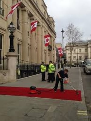 Preparations for Canada House gala re-opening