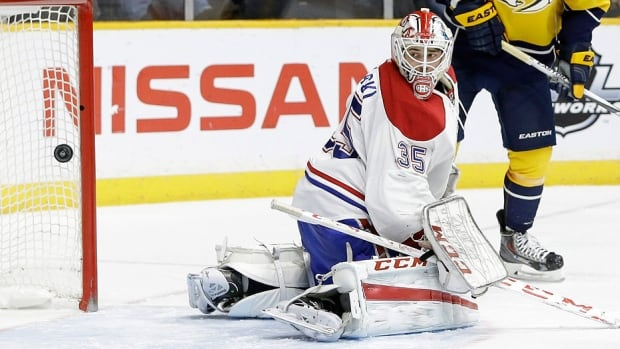 Dustin Tokarski went 1-3-0 in six games with the Canadiens this season.