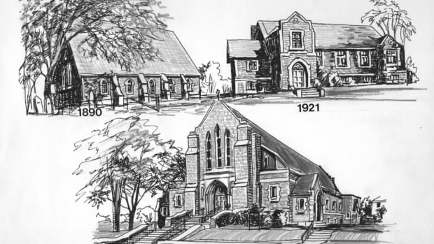 Three of the church buildings that the congregation of St. Matthias has called home throughout the years. Due to declining numbers, the congregation will merge with a Westboro parish in the new year.