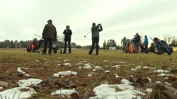 Christmas even - golf