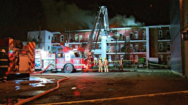About 50 people were forced to leave their homes after a fire broke out late Friday.