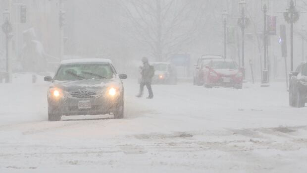 Winter storm predicted to pause Monday afternoon but resume Tuesday with vigor.