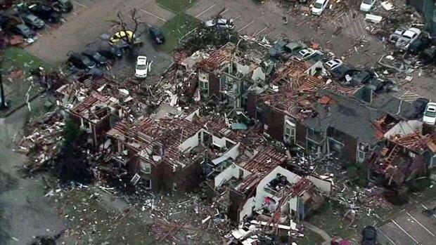 Garland Texas tornado damage