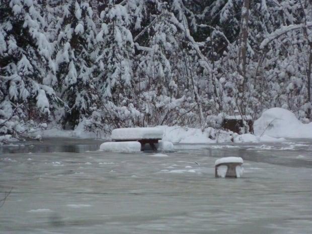 Kathy Spiro Bulkley River Ice Jam