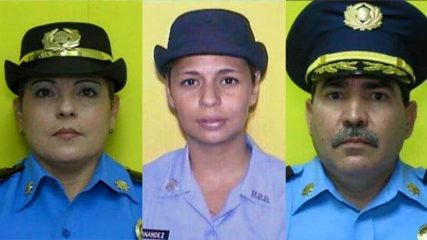 Three victims identified in Monday's fatal shooting are, from left to right, Lt. Luz M. Soto, Officer Rosario Hernández de Hoyos and Cmdr. Frank Román Rodríguez.