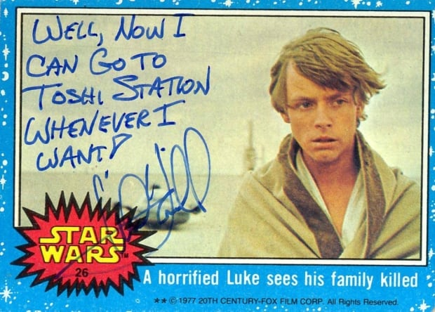 Star Wars Mark Hamill signature