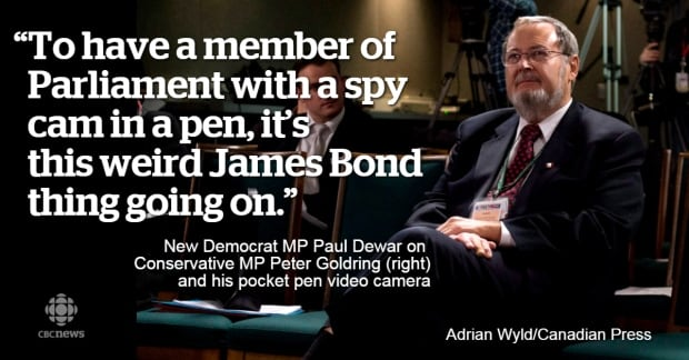 Peter Goldring Conservative spy pen quote March 2015