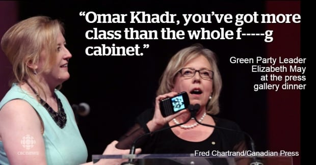 Elizabeth May on Khadr class comment May