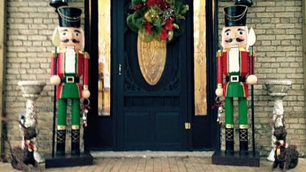 A husband and wife say they are devastated after two life-size nutcrackers were stolen from their front porch on Cobble Hills Road just east of London.