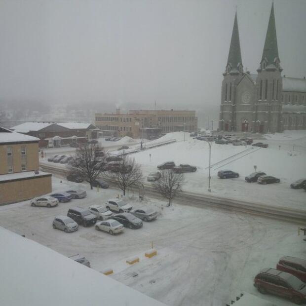 Snow in Edmundston