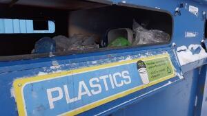Recycling bin in Yellowknife